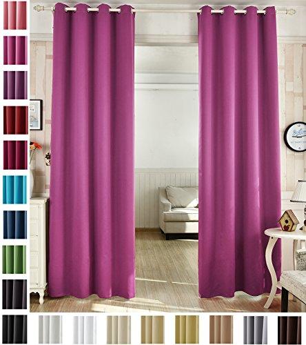 Woltu # 488un pannello oscurante con occhielli tenda oscurante, pronta finestra trattamento per soggiorno e camera light blocking ring top curtain|1pezzo, pink, 53