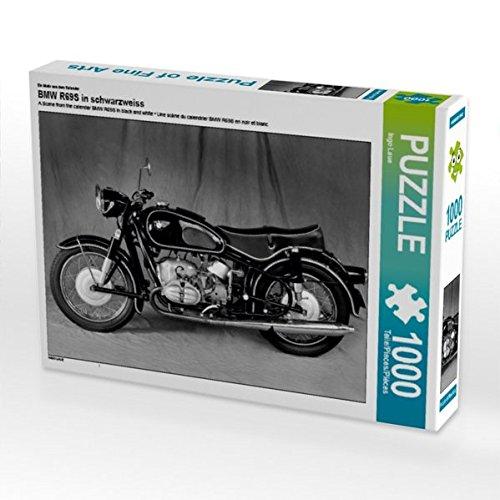 Ein Motiv aus dem Kalender BMW R69S in schwarzweiss 1000 Teile Puzzle quer