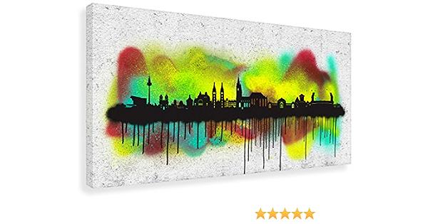 Nürnberg City Skyline Leinwand Canvas Bild Wandbild Kunstdruck L1463