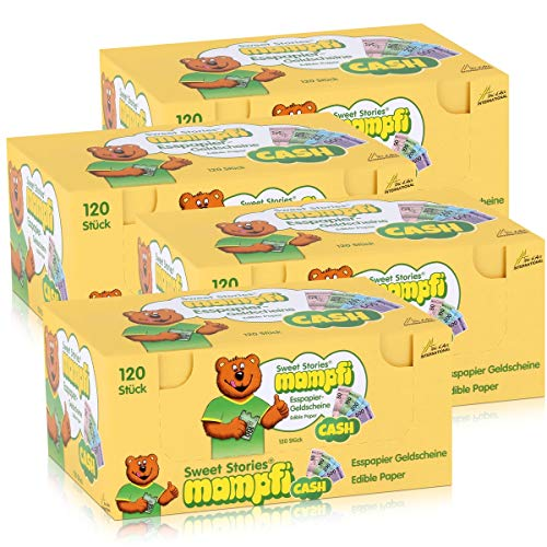 Mampfi Esspapier Geldscheine Cash 120 Oblaten 240g (4er Pack)