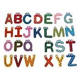 Valcano 26 Teile/Satz Große Größe Holzbuchstaben Alphabet Kühlschrank Kühlschrank Magnetischen Aufkleber Aufkleber Cartoon Augen Kinder Baby Pädagogisches Lernspielzeug A-Z