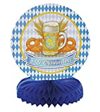 Fragola-Party–Motto della Party Espositore da tavolo, con stemma Oktober Fest, quadri, Blu Bianco, Multicolore