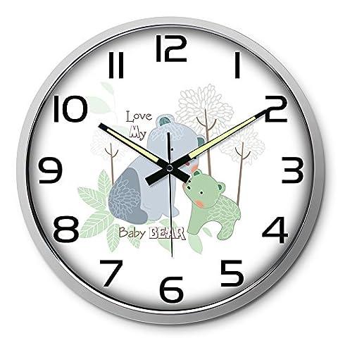Horloge murale modern art horloges grand salon muets minimaliste horloge