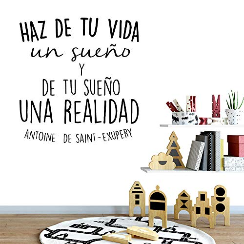 KAMAUAY Creative Spanish Quotes Vinyl Wall Sticker Home Decor Stikers Kids Room Nature Decor Wall Art Decal 43 * 45Cm
