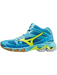 Mizuno WaveBolt 4 Mid white/blue scarpa da pallavolo m (EU 43)