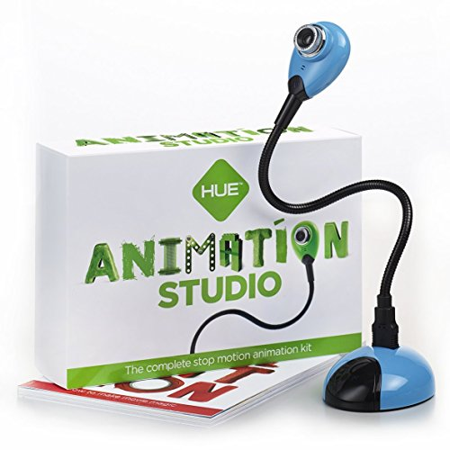 Hue Animation Studio für Windows-PCs & Mac (blau): komplettes Stop-Motion-Animation-Kit mit Kamera -