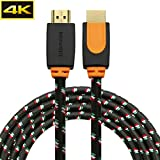 4K HDMI Cable 10 Feet HDMI2.0 Cable 26AWG Braided Cable for Xbox PlayStation PS3 PS4 PC 4K TV 2