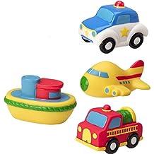 Happy cherry - Set Cubo de Juguetes Juegos de Baño Agua Flotanes barco coche transportes para Bebés niños niñas