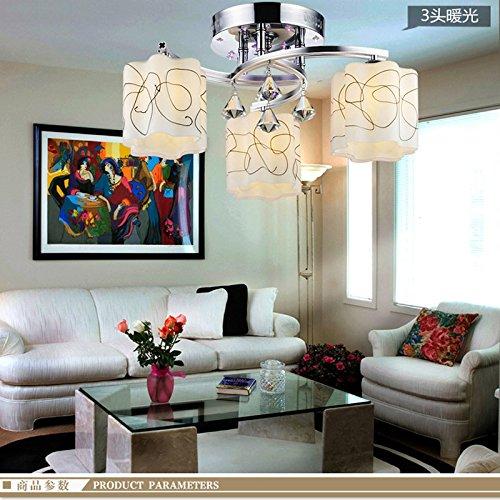El cristal llevó la lámpara de techo moderna minimalista sala de estar...