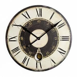 Doppia cornice vintage orologio da parete con pendolo