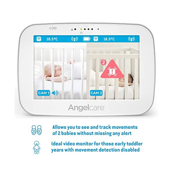 Angelcare Ac527 Baby Movement Monitor, with Video Angelcare New smaller, wireless sensasure movement sensor pad Alarm will sound if there is no movement after 20 seconds Non-contact monitoring 4
