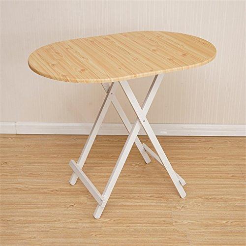 Großer Ovaler Tisch (Klapptisch Cqq Esstisch Computertisch Portable einfach Ovaler Tisch, Küche und Esstisch, Büro, Kinder, Kindertisch Wandtisch (Farbe : A))