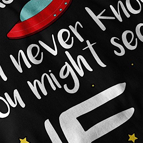 Schau oben UFO Platz Platz Immer Schau Damen Schwarz S-2XL Muskelshirt | Wellcoda Schwarz