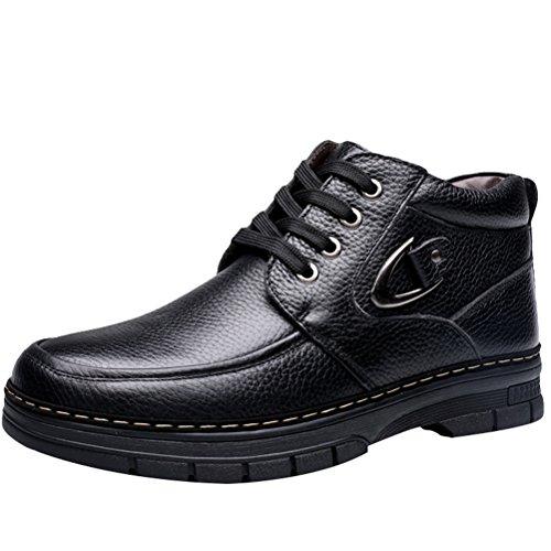 Superior Lã Jogo Inverno Da De De Alta De Botas De Neve preta Sapatos Style4 Homens Para Vida wxU6nEw8