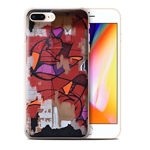 Stuff4 Hülle / Case für Apple iPhone 8 Plus / Achtung Wand Muster / Städtisch Straße Kunst Kollektion Graffiti