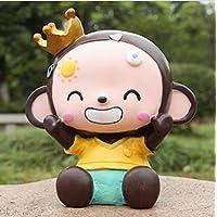 Preisvergleich für Heylookhere Sparschwein-Bank Crown Monkey Piggy Bank bruchsicher Harz Ornamente Geburtstagsgeschenk (Boy Monkey)
