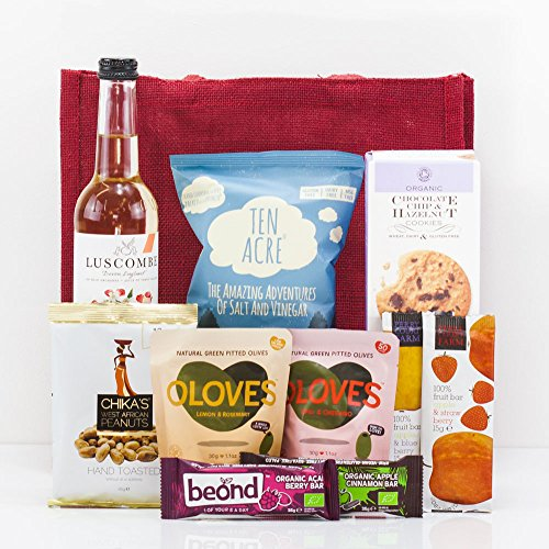Natures Hampers Gluten-Free Gift Bag - Gluten Free Healthy Vegetarian & Vegan Food Treats & Snacks - Birthday for Him - Birthday for Her - Christmas Gifts - Xmas Present