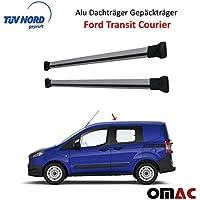 Dachträger Alu Grau für Ford Transit Tourneo Custom mit TÜV ABE Elg Dachreling