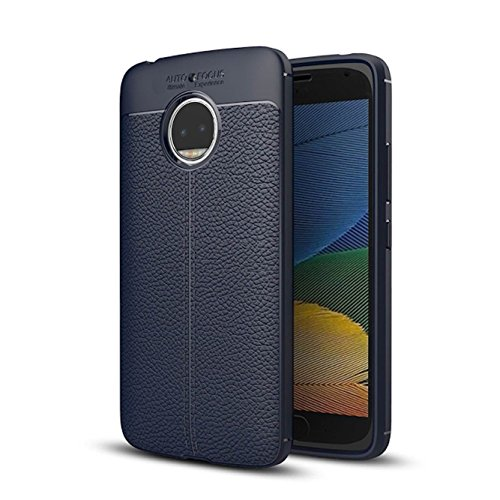 Rapid Zone Soft Silicone TPU Flexible Blue Auto Focus Back Cover For Motorola Moto G5S Plus