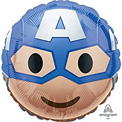 Amscan International – 3636601 Capitán América Emoji Foil Balloon