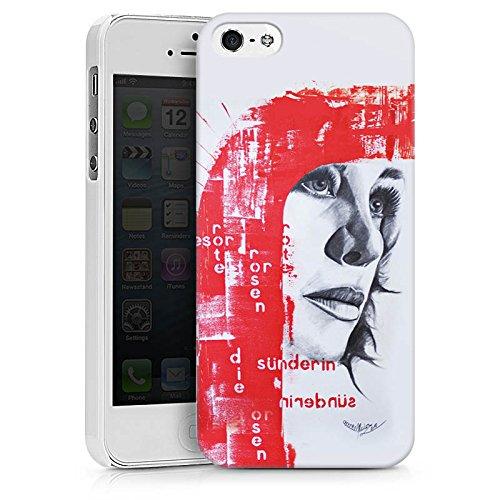 Apple iPhone X Silikon Hülle Case Schutzhülle Frau Gesicht Art Hard Case weiß