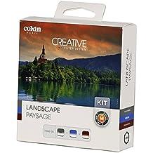 Cokin Kit M paisaje conjunto de 3filtros degradados neutra con microfibra color gris neutro