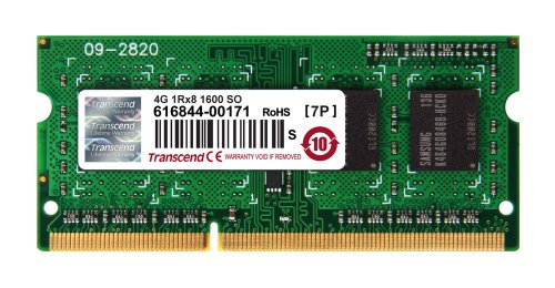 Transcend TS4GJMA384H JetMemory - Memoria RAM de 4 GB para Apple iMac 2013 (204 pin SO-DIMM, DDR3 SDRAM, 1600 MHz, 1Rx8)