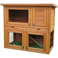 Bunny Business Doppeldecker-Stall, 2-stufig, mit Ausziehfächern, für Kaninchen°/°Meerschweinchen