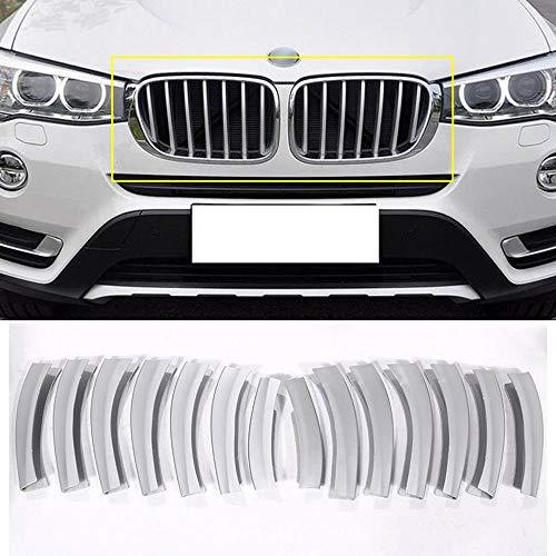 YIWANG ABS Chrom Pailletten Auto Front Grill Abdeckung Blende 14 Stück für X3 F25 2011-2017 Auto Zubehör