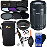 """Canon EF-S 55-250mm F4-5.6 Is""""STM"""" Lens For Canon SLR Cameras (International Version) + ND Filters ND2, ND4, ND8 + 11pc Bundle Deluxe Accessory Kit W/HeroFiber Cleaning Cloth"""