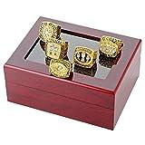 Quoouz Herren San Francisco Gold Überzug Diaman WM Fans Souvenir einstellen Meisterschaft Ringe,Größe 72 (22.9)