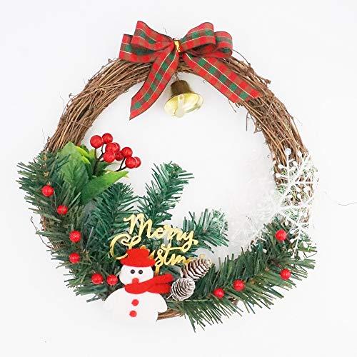 GZH Weihnachtskranz Handgefertigte Girlande Tür Dekoration Anhänger Fenster Requisiten Layout Hauptdekoration Kaufen Sie Eine Erhalten Sie Eine Frei,B