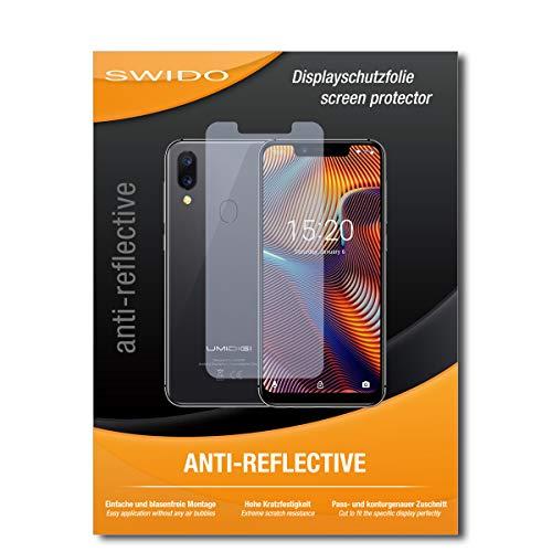 SWIDO Schutzfolie für UMIDIGI A3 Pro [2 Stück] Anti-Reflex MATT Entspiegelnd, Hoher Härtegrad, Schutz vor Kratzer/Bildschirmschutz, Bildschirmschutzfolie, Panzerglas-Folie
