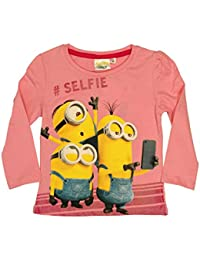 Despicable Me Minions Official Girls T-Shirt Long Sleeve Age 3/8 Years