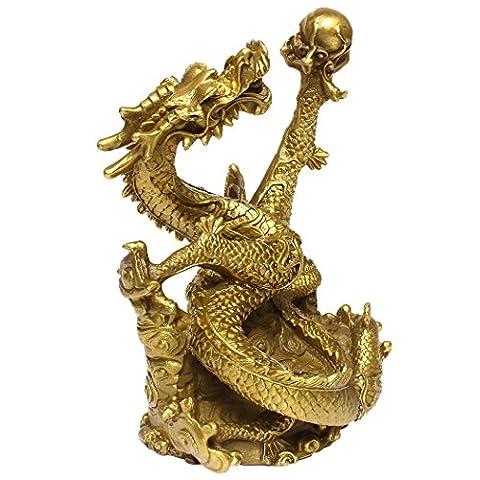 chinois FENGSHUI faite à la main en laiton figurine Statue
