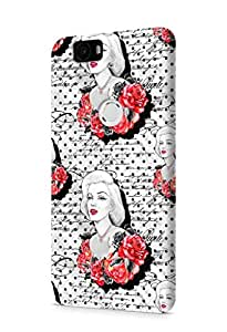 Cover Affair Girlie / Girly Printed Designer Slim Light Weight Back Cover Case for Huawei Nexus 6P / Huawei Google Nexus 6P