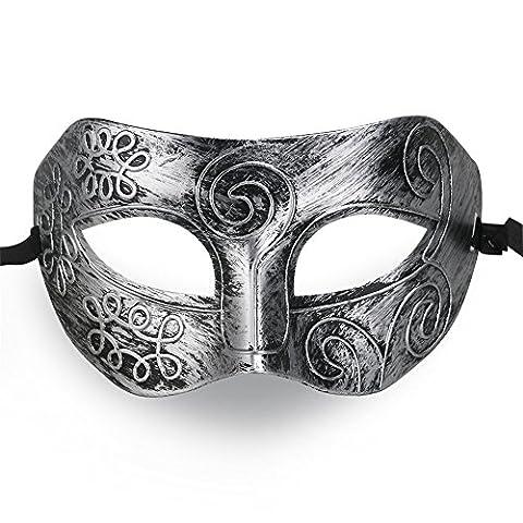 QincLing 2er Pack Herren Griechischer römischer Kämpfer Party Halloween Masquerade Gesichtsmaske (Griechischen Frau Kostüm)