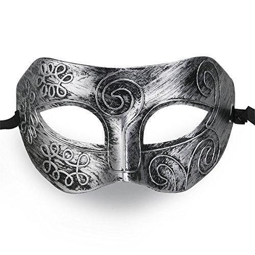 QincLing 2er Pack Herren Griechischer römischer Kämpfer Party Halloween Masquerade Gesichtsmaske