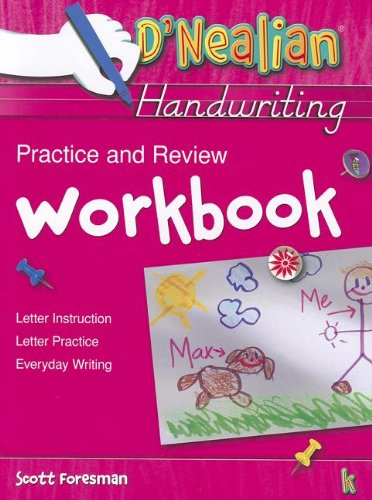 Dnealian Handwriting 1993 Practice and Review Workbook Grade K