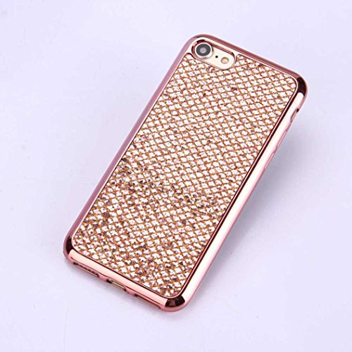 Cover per iPhone 7, Tpulling Custodia per iPhone 7 Case Cover Custodia in silicone morbida antiurto TPU per IPhone 7 4.7 pollici (Pink) Rose Gold