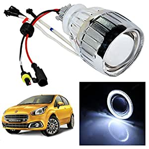 Vheelocityin White Ring Projector / Headlight / Headlamp For Fiat Punto Evo