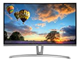 MEDION AKOYA P57851 MD 21851 Curved Monitor 68,6 cm (27 Zoll Full HD) LED-Backlight-Monitor (1920 x 1080 Pixel, 16:9, HDMI, DVI-D, integrierte Lautsprecher) Silber