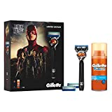 Gillette Fusion ProGlide Rasierer Geschenkset Justice League Limited Edition+ 2Ersatzklingen+Rasiergel 75ml