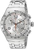 SWATCH HERREN 47MM CHRONOGRAPH MINERAL GLAS DATUM UHR YOS445G