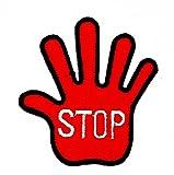 rabana Stoppschild Signal Traffic Street Road ACHTUNG Worte Funny Patch für Heimwerker-Applikation Eisen auf Patch T Shirt Patch Sew Iron on gesticktes Badge Schild Kostüm