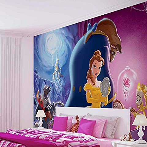 Disney Princesses Belle Beauty Beast - Photo Wallpaper - Wall Mural - EasyInstall Paper - Giant Wall Poster - XXL - 312cm x 219cm - EasyInstall Paper - 3