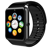 TechCorp 2016 GT08 Newest Wearable Bluetooth Smart Health Wrist Watch Phone with SIM Card Slot for Android Samsung HTC/LG/SONY/HUAWEI - Black