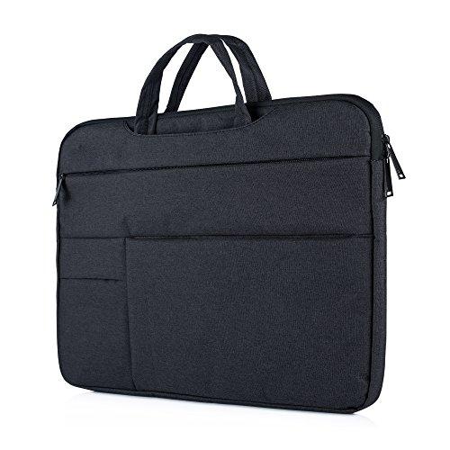 """Y-master 14-15,4 Zoll Laptophülle Sleeve Case elegant dünn für Lenovo Dell Acer Asus Macbook Toshiba und andere 14-15.4"""" Ultralbooks Notebooks, Schwarz"""