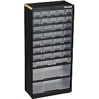 Ironside - Cajonera de herramientas (PVC, 34 cajones transparentes, 300 x 135 x 620 mm)