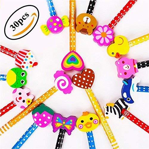 Matite con gomma da disegno multicolore, KimKo matite per bambini Regali per i premi delle scuole di compleanno